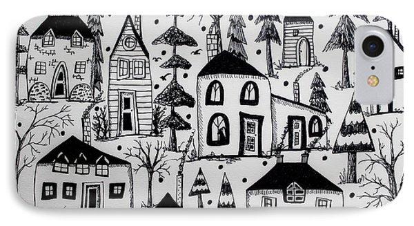 Woodsy Village IPhone Case by Karla Gerard