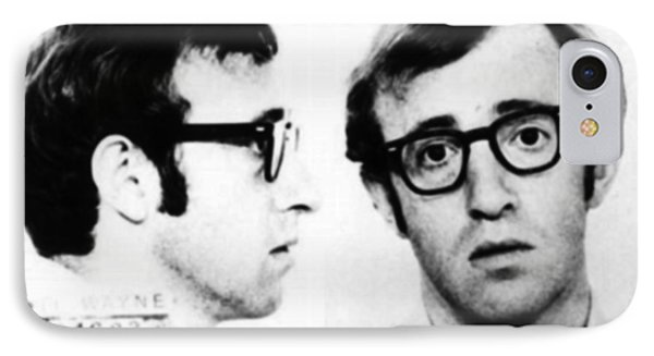 Woody Allen Mug Shot For Film Character Virgil 1969 IPhone Case by Tony Rubino