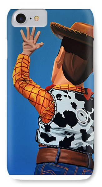 Woody Of Toy Story IPhone Case by Paul Meijering