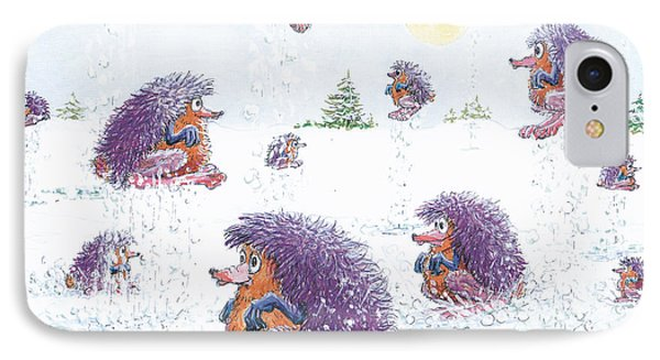 Woolly Snow Hoppers IPhone Case by Charles Cater