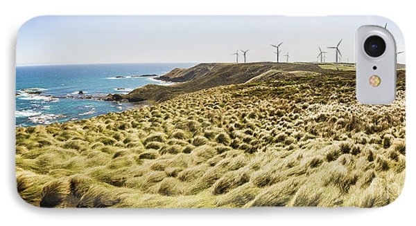 Woolnorth Wind Farm And Ocean Landscape Tasmania IPhone Case by Jorgo Photography - Wall Art Gallery