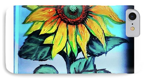 Working On This Sunflower. #sunflower IPhone Case by Genevieve Esson