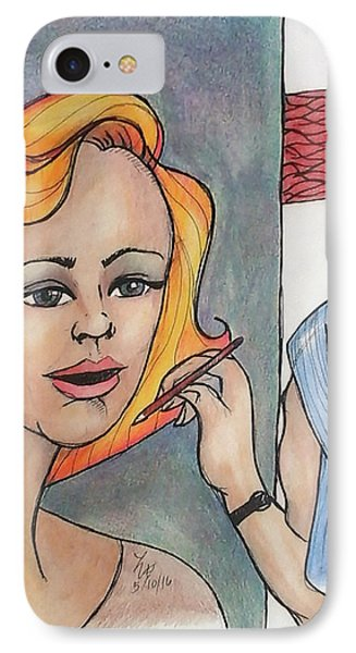 Working Portrait IPhone Case by Loretta Nash