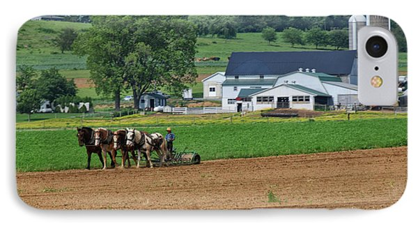 Working The Fields IPhone Case by Tricia Marchlik