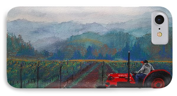 Working The Vineyard Phone Case by Becky Chappell