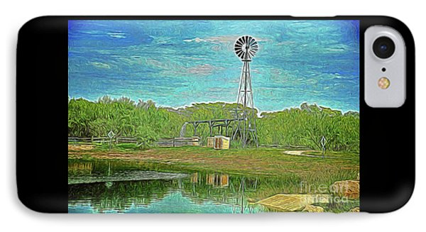 IPhone Case featuring the photograph Working Windmill  by Ray Shrewsberry