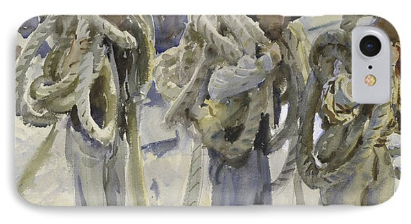Workmen At Carrara IPhone Case by John Singer Sargent