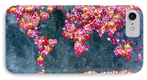 World Full Of Love IPhone Case