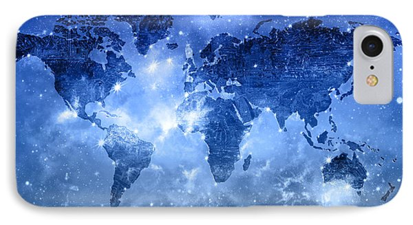 World Map Galaxy 9 Phone Case by Bekim Art