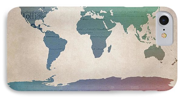 World Map Greetings IPhone Case