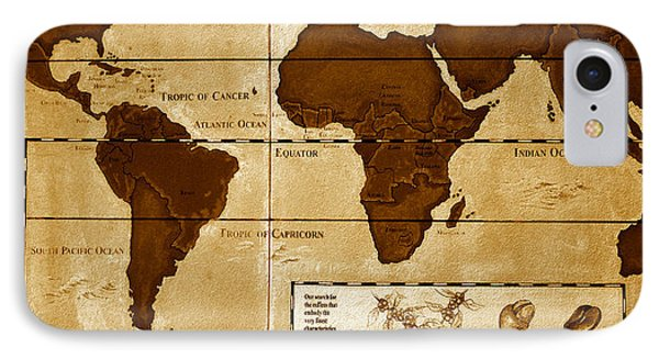 World Map Of Coffee IPhone Case by David Lee Thompson