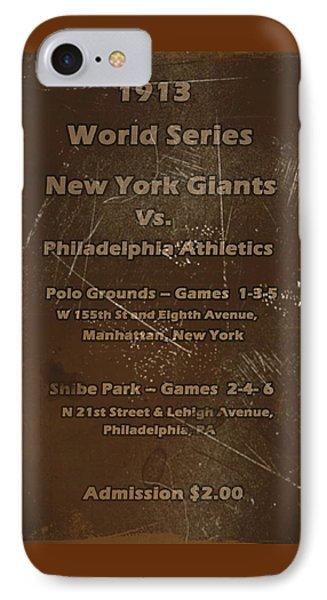 World Series 1913 IPhone Case by David Dehner