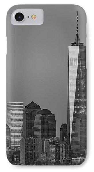 World Trade Center Downtown Manhattan Bw IPhone Case