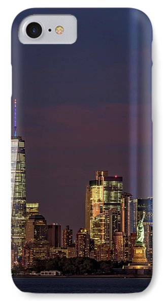 World Trade Center Wtc Tribute In Light Memorial II IPhone Case by Susan Candelario