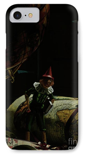 World Traveler Pinocchio Phone Case by Kelly Borsheim
