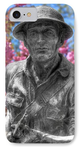 IPhone Case featuring the photograph World War I Buddy Monument Statue by Shelley Neff