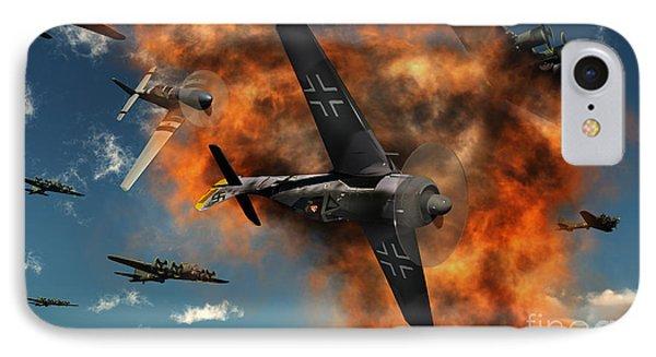 World War II Aerial Combat IPhone Case by Mark Stevenson