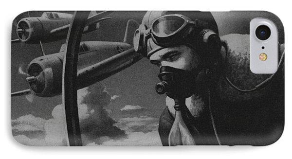 World War II Fighter Pilot IPhone Case by American School