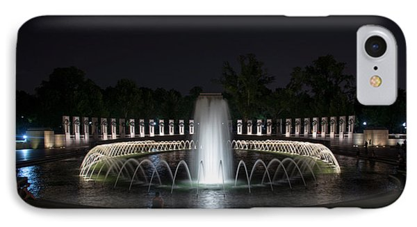 IPhone Case featuring the photograph World War II Memorial At Night by Chrystal Mimbs