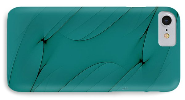 Wormhole In Turquoise  Phone Case by Angela A Stanton