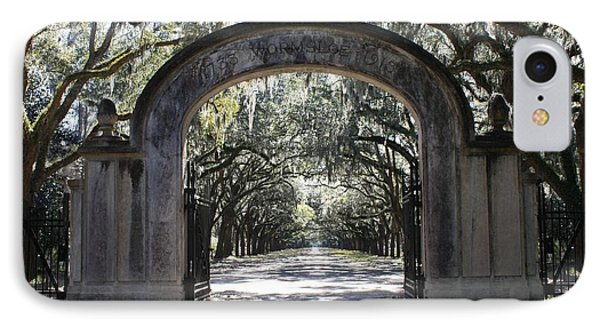 Wormsloe Plantation Gate IPhone Case by Carol Groenen