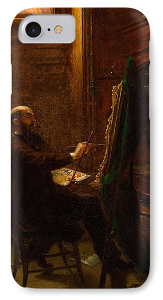 Worthington Whittredge In His Tenth Street Studio IPhone Case by MotionAge Designs