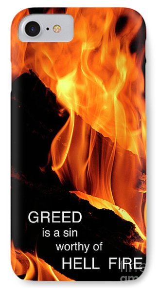 IPhone Case featuring the photograph worthy of HELL fire by Paul W Faust - Impressions of Light