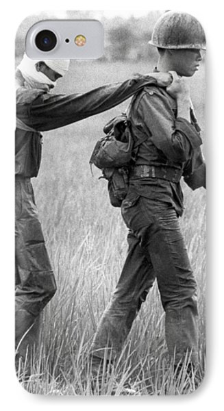 Wounded Vietnamese Soldier IPhone Case by Underwood Archives
