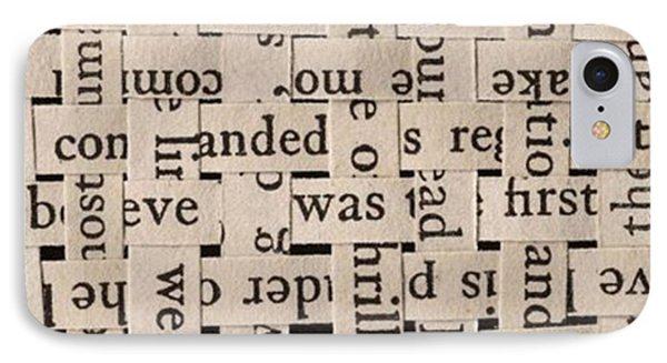 Woven Words By Edward M. Fielding - IPhone Case by Edward Fielding