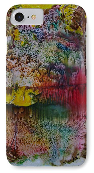 IPhone Case featuring the painting Wow- Exotic Landscape by Sima Amid Wewetzer