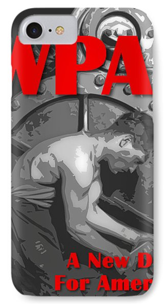 IPhone Case featuring the digital art A New Deal For America by Chuck Mountain
