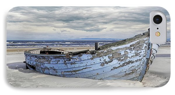 Wreck Of A Barge On A Baltic Beach IPhone Case