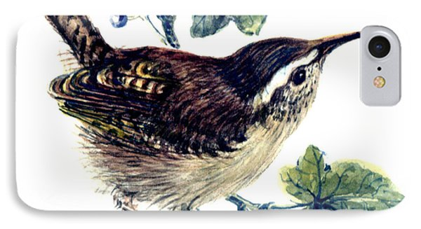 Wren In The Ivy IPhone Case by Nell Hill
