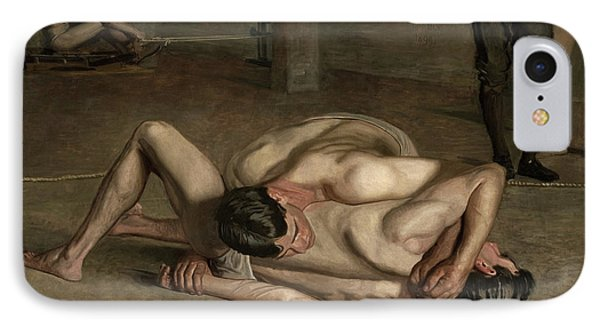 Wrestlers, 1899  IPhone Case by Thomas Cowperthwait Eakins