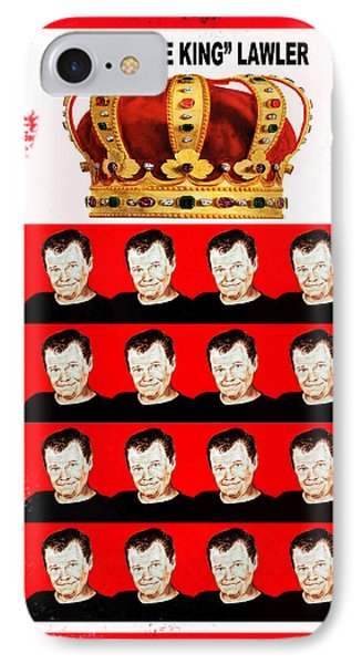 Wrestling Legend Jerry The King Lawler IIi IPhone Case by Jim Fitzpatrick