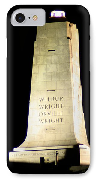Wright Brothers' Memorial IPhone Case by Karen Harrison