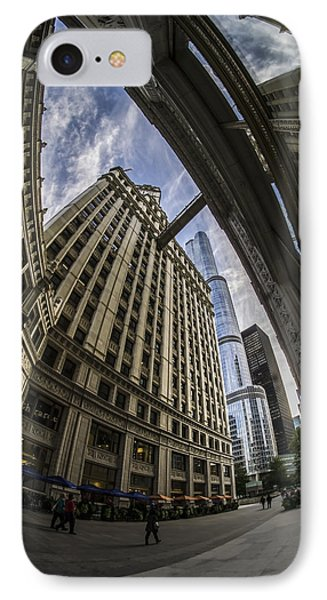 Wrigley And Trump A Fisheye View IPhone Case by Sven Brogren