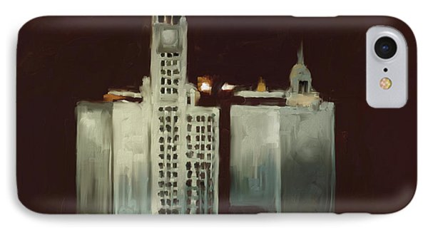 Wrigley Building 1 525 1 IPhone Case by Mawra Tahreem
