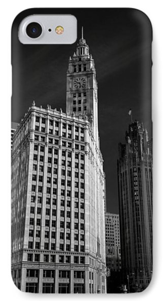 Wrigley Building Chicago IPhone Case by Mike Burgquist