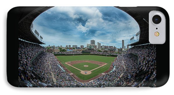 Wrigley Field iPhone 7 Case - Wrigley Color by Greg Wyatt