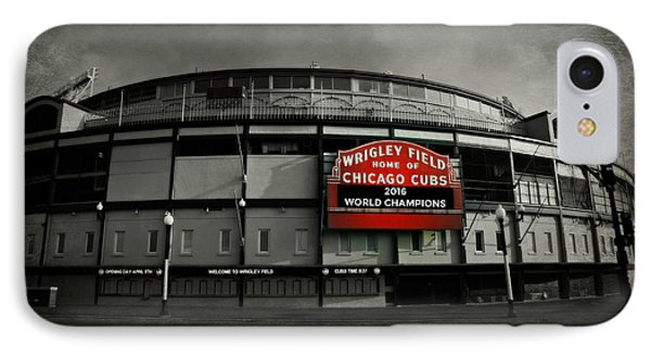 Wrigley Field - 2016 World Champions IPhone Case by Stephen Stookey