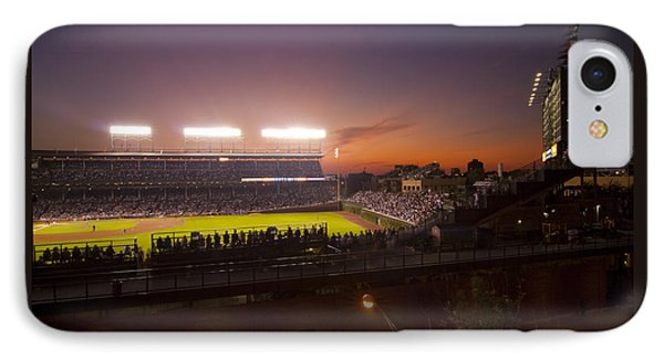 Wrigley Field At Dusk IPhone Case by Sven Brogren