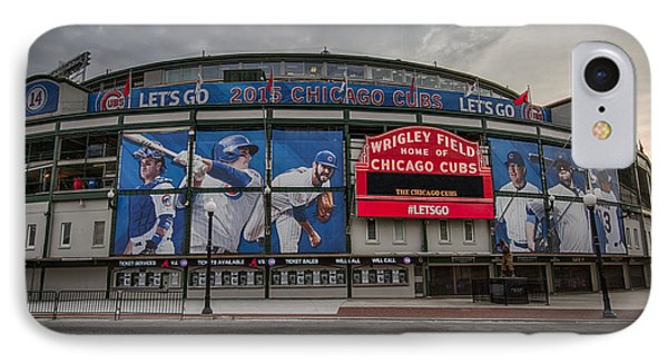 Wrigley Field Chicago Cubs IPhone Case by Mike Burgquist