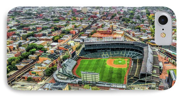 Wrigley Field iPhone 7 Case - Wrigley Field Chicago Skyline by Christopher Arndt