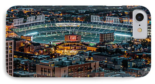 Wrigley Field From Park Place Towers Dsc4678 IPhone 7 Case by Raymond Kunst