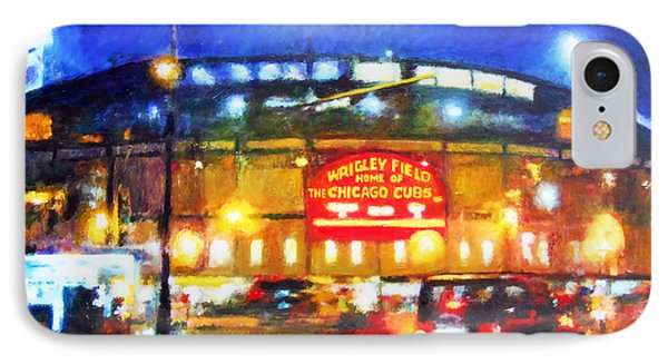 Wrigley Field iPhone 7 Case - Wrigley Field Home Of Chicago Cubs by Michael Durst