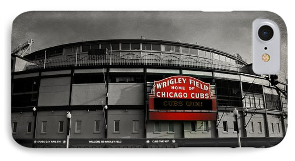 Wrigley Field Home Of The Chicago Cubs IPhone Case by Stephen Stookey