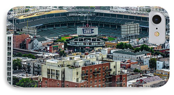 Wrigley Field Park Place Towers During The Day Dsc4743 IPhone Case by Raymond Kunst