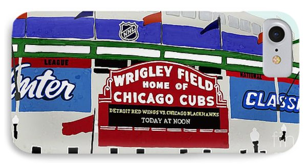 Wrigley Field IPhone Case by Priscilla Wolfe
