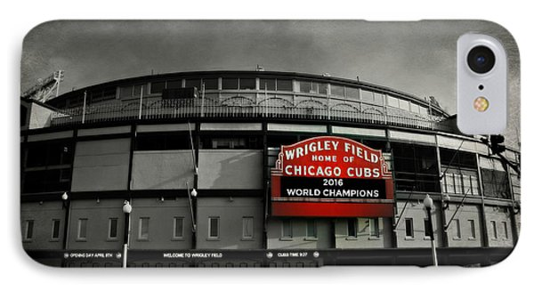 Cow iPhone 7 Case - Wrigley Field by Stephen Stookey